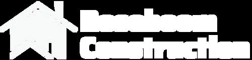 Roseboom Construction Full Logo White